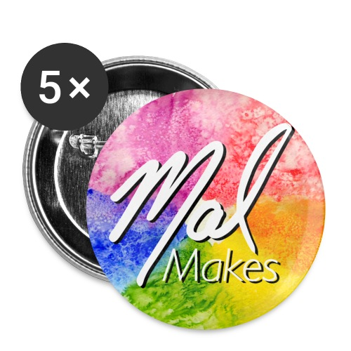 MalMakes-Circle-Button - Buttons small 1'' (5-pack)