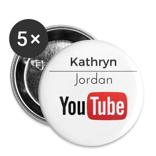 K and J youtube - Buttons small 1'' (5-pack)