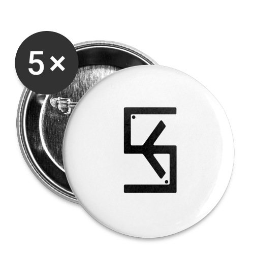 Soft Kore Logo Black - Buttons small 1'' (5-pack)