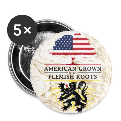 American Grown with Flemish Roots Marble Style Design - Small Buttons