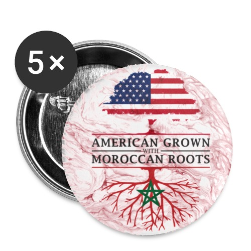 American Grown with Moroccan Roots Marble Style Design - Small Buttons