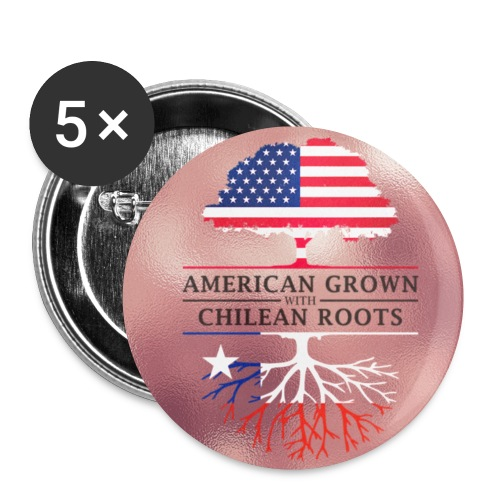 American Grown with Chilean Roots Pink Blush Style Design - Small Buttons