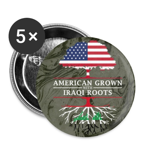 American Grown with Iraqi Roots Marble Style Design - Small Buttons