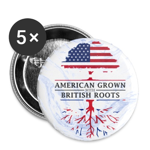 American Grown with British Roots Marble Style Design - Small Buttons