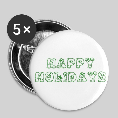 Holiday Button Green - Buttons small 1'' (5-pack)