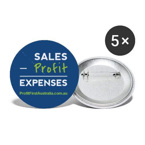 PFP Profit First Equation - Buttons small 1'' (5-pack)