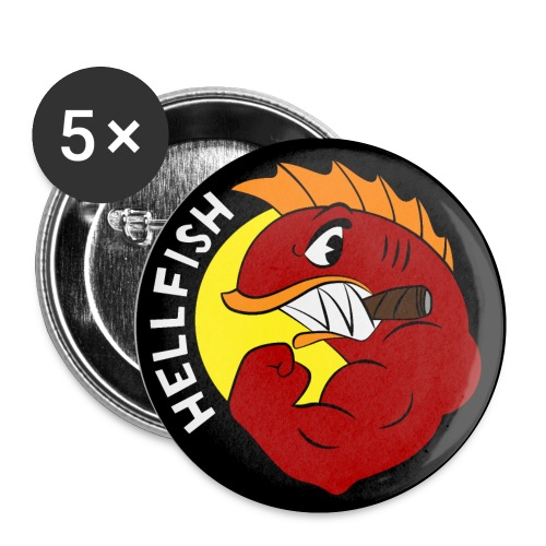 Hellfish - Flying Hellfish - Buttons small 1'' (5-pack)
