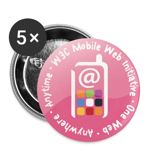 badge mobile web initiative pink - Buttons small 1'' (5-pack)