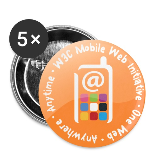 badge mobile web initiative orange - Buttons small 1'' (5-pack)