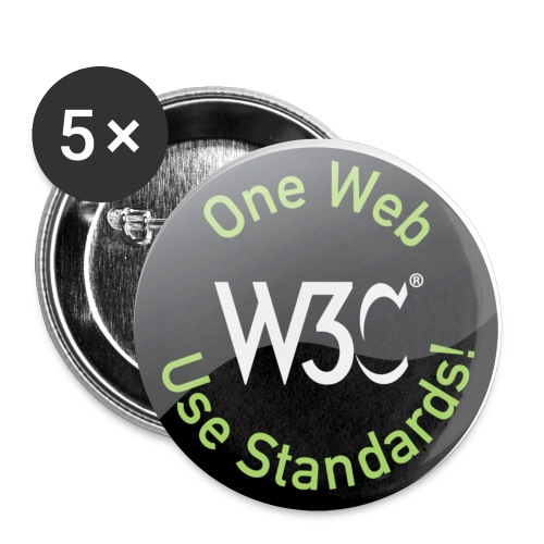 Badge One Web - Buttons small 1'' (5-pack)