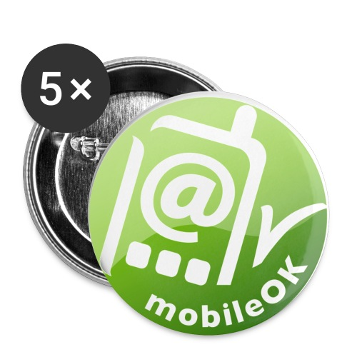 badge mobile ok - Buttons small 1'' (5-pack)