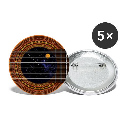 Cool Guitar Soundhole - Buttons small 1'' (5-pack)