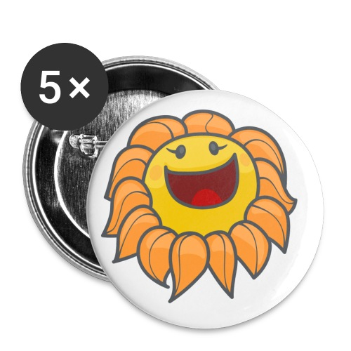 Happy sunflower - Buttons small 1'' (5-pack)