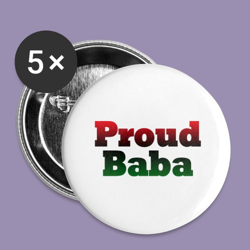 Proud Baba-RBG - Buttons small 1'' (5-pack)