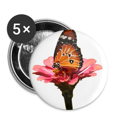 Monarch Butterfly on Flower - Buttons small 1'' (5-pack)