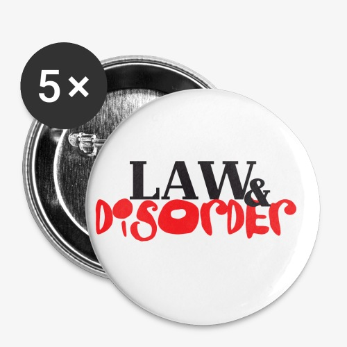 Law DISORDER Logo - Buttons small 1'' (5-pack)