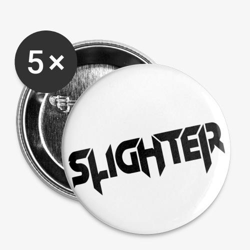 Slighter Black Logo - Buttons small 1'' (5-pack)