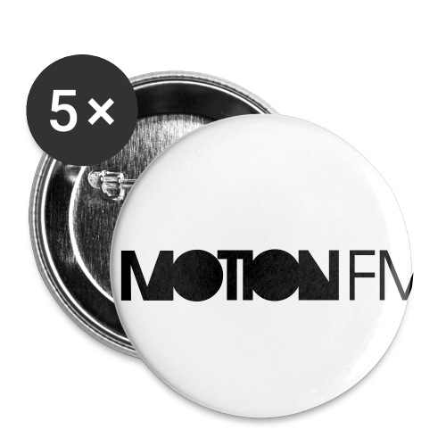 MotionFM Typo - Buttons small 1'' (5-pack)