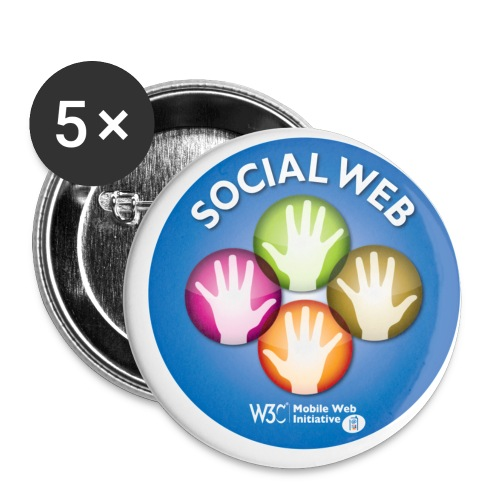sticker socialweb - Buttons small 1'' (5-pack)