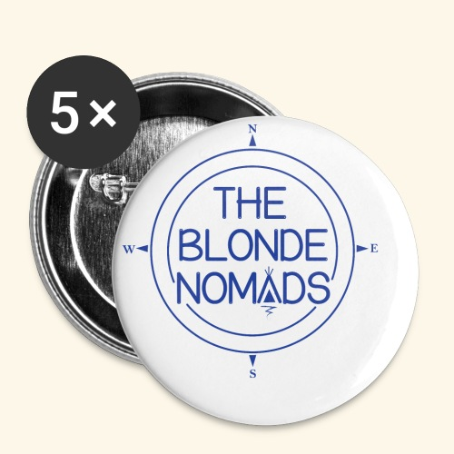 The Blonde Nomads Blue Logo - Buttons small 1'' (5-pack)