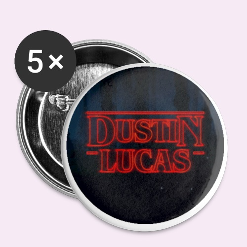 Dustin and Lucas Circle - Buttons small 1'' (5-pack)