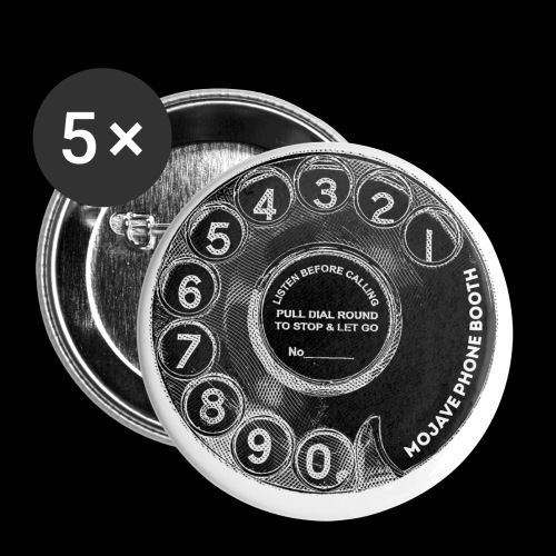 mojave phone booth dial - Buttons small 1'' (5-pack)
