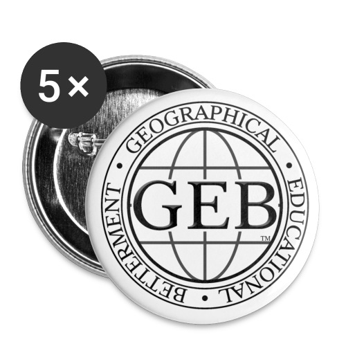 Medium GEB Logo Mini Button - Small Buttons
