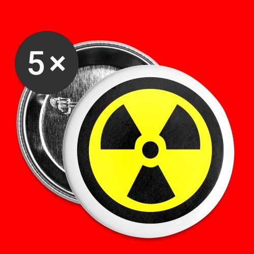 Radiation Symbol - Small Buttons