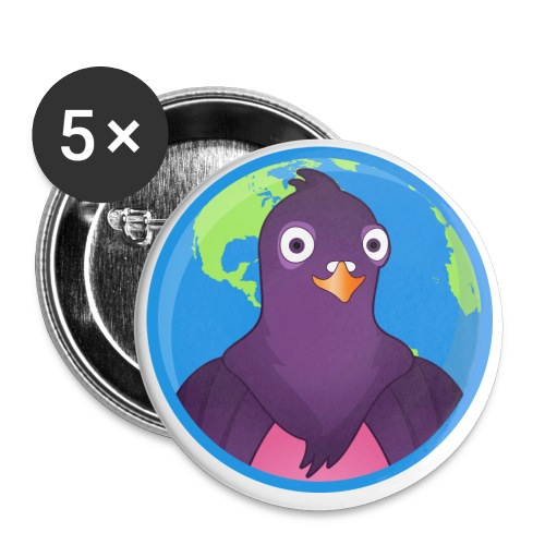 pidgin_earthday - Buttons small 1'' (5-pack)