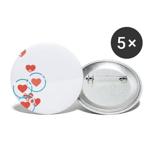 SuperHearts - Buttons small 1'' (5-pack)