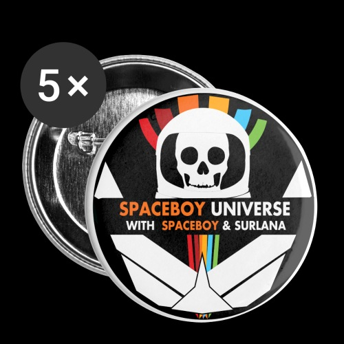 Spaceboy Universe Logo - Buttons small 1'' (5-pack)