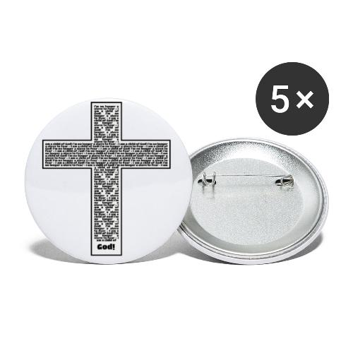 Jesus cross. I'm no longer a slave to fear. - Buttons small 1'' (5-pack)
