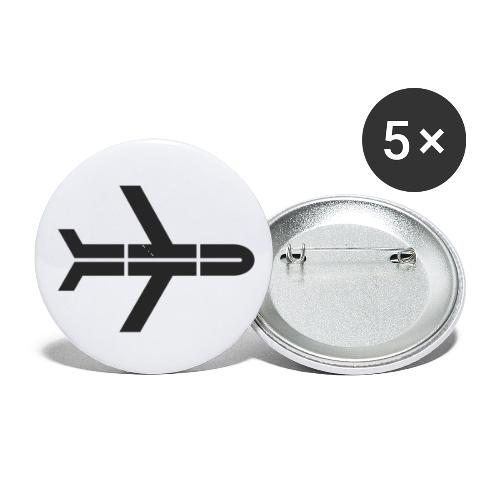Thrifty Traveler Logo - Buttons small 1'' (5-pack)