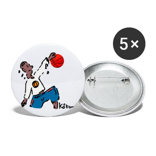 Basketball - Buttons small 1'' (5-pack)
