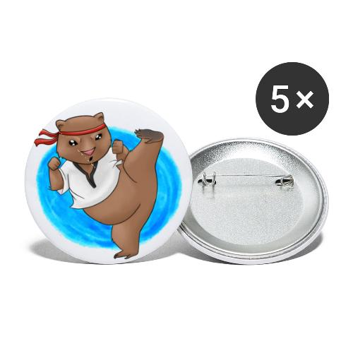 Wombat in Action - Buttons small 1'' (5-pack)
