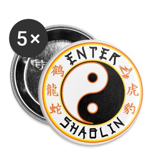 Enter Shaolin Main Logo | Black - Buttons small 1'' (5-pack)