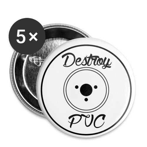 PVC1 png - Buttons small 1'' (5-pack)