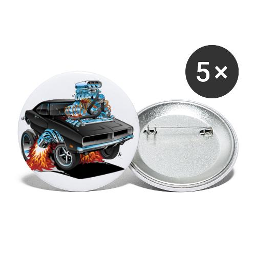Classic 69 American Muscle Car Cartoon - Buttons small 1'' (5-pack)
