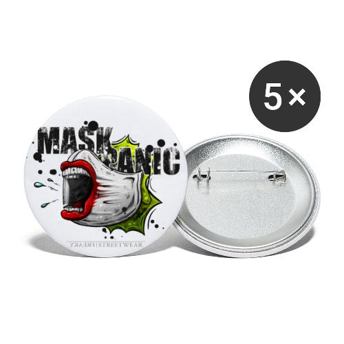mask panic - Buttons small 1'' (5-pack)