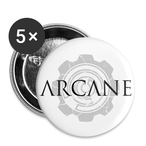 2 colour front black and grey cropped png - Buttons small 1'' (5-pack)