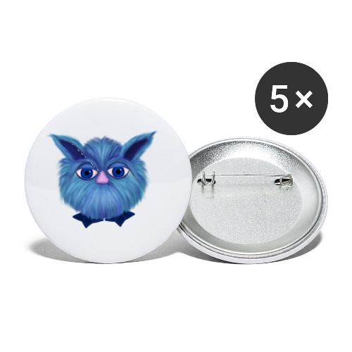 Fantasy cuddly toy Puschel - Buttons small 1'' (5-pack)
