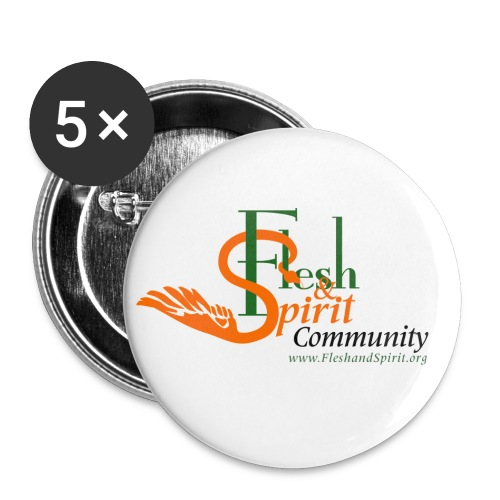 Flesh and Spirit Community T-Shirt - Small Buttons