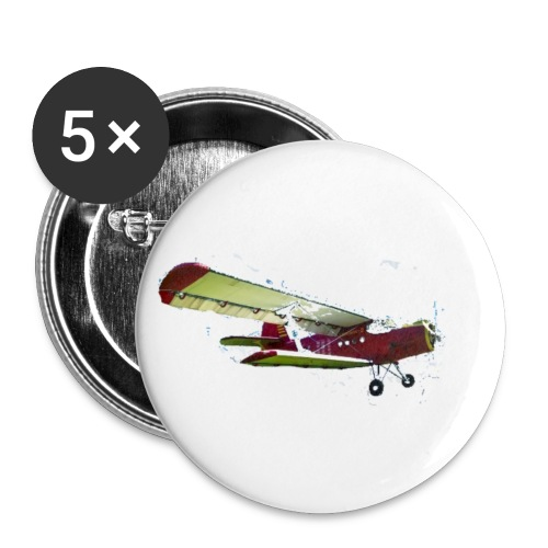 Airplane - Buttons small 1'' (5-pack)