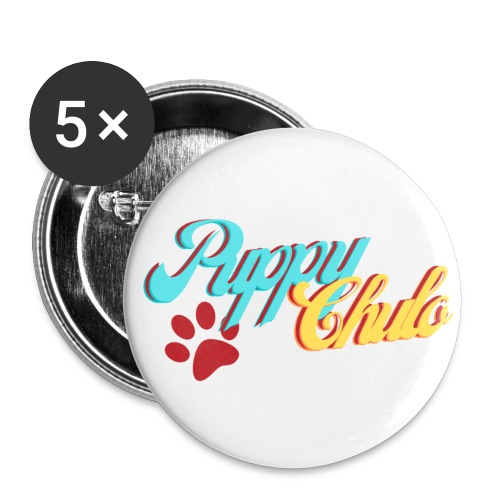 'Puppy Chulo', Funny Spanish Pun - Buttons small 1'' (5-pack)