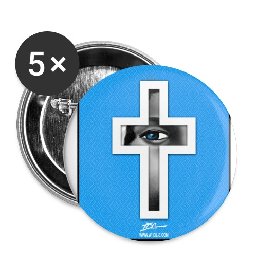 tdg cross light blue - Buttons small 1'' (5-pack)