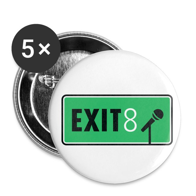 exit 8 a cappella horizontal fullcolor transbkgrd png buttons small 1 5 pack spreadshirt
