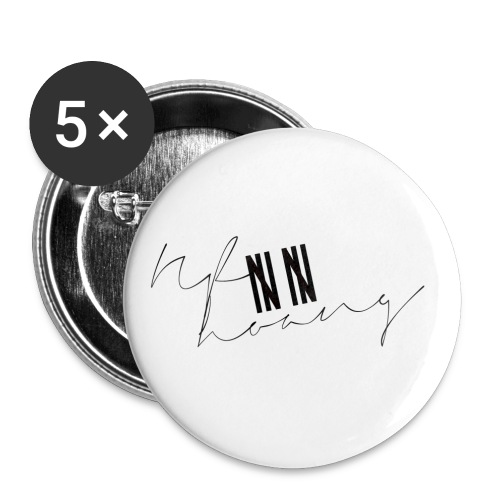Nf8hoang |||| |||| (Black) - Buttons small 1'' (5-pack)
