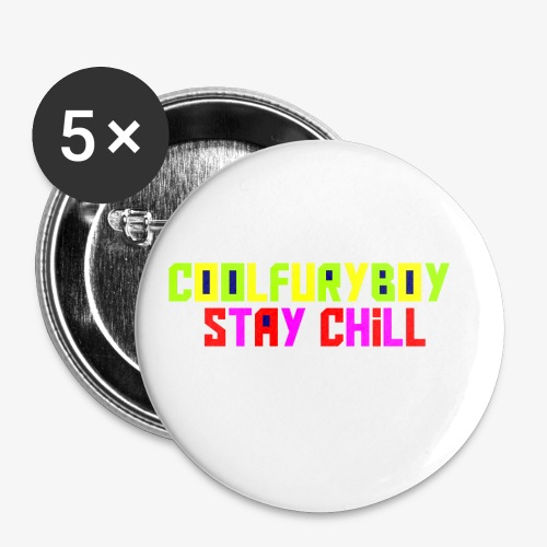 CoolFuryBoy - Buttons small 1'' (5-pack)