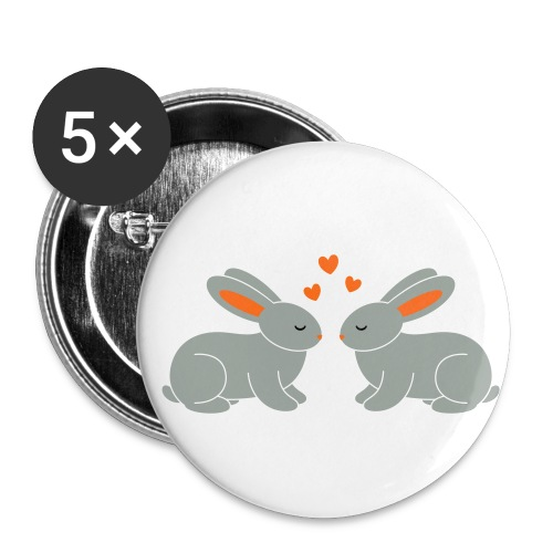 Rabbit Love - Buttons small 1'' (5-pack)