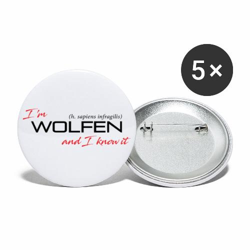 Wolfen Attitude on Light - Buttons small 1'' (5-pack)